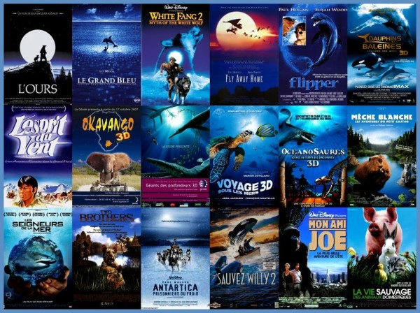 Dark Blue nature animal movie posters