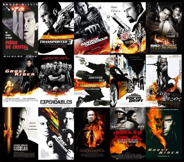Black white orange movie posters