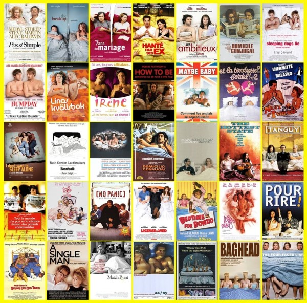 People on bed movie posters